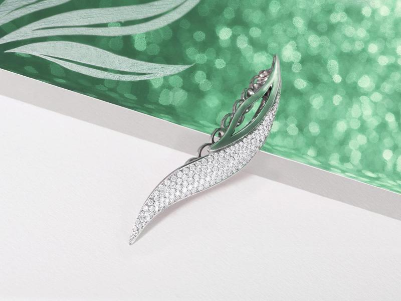 Barrette from the Le jardin secret d'Opaliza collection
